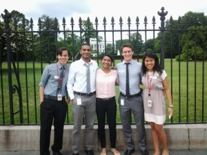 Jessica and her fellow Red Cross Interns