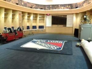 NY Rangers Locker Room