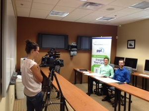 Industry partners from PPL recording a guest lecture for CN ED 280 at Penn State University